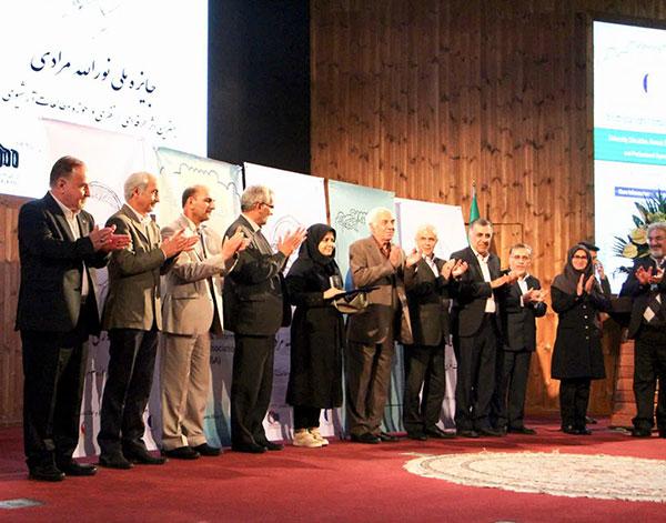 اعطای جایزه ملّی دکتر نورالله مرادی به پایاننامه سرکار خانم الهام جلالی فراهانی